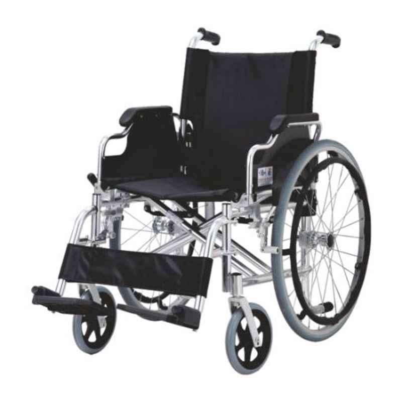 Easycare 100kg Foldable & Detachable Aluminum Wheelchair with Nylon Seat, EC903L