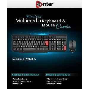 Enter Wirelss Combo Kit Keyboard+Mouse 【1Year Warranty】 Keyboard