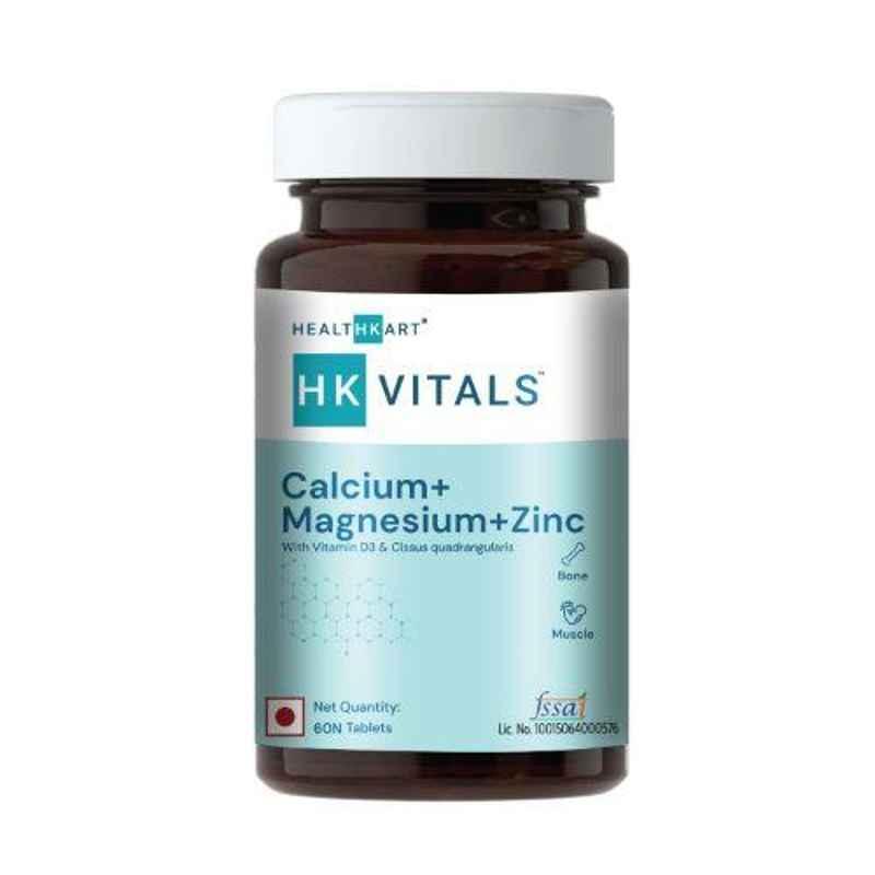 Healthkart 60 Pcs Calcium with Vitamin D3 Capsules, HNUT8191-01