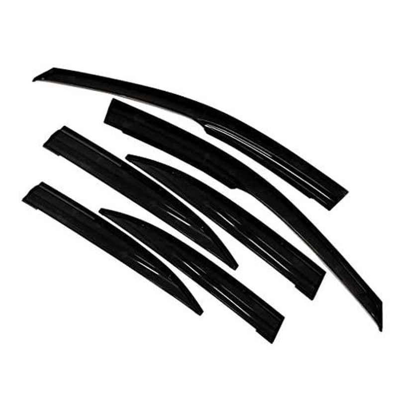 Auto Pearl 4 Pcs Black Car Rain & Wind Door Visor Side Window Deflector for Terrano