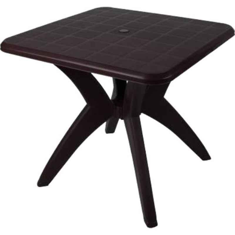 Supreme Dinner Globus Brown Plastic & Polypropylene Square Outdoor Table