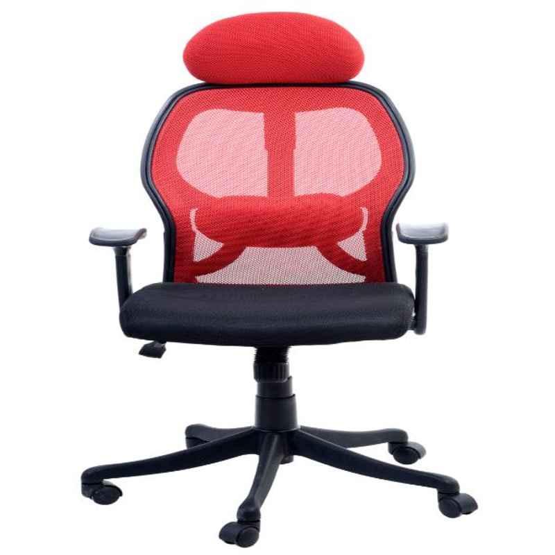 Regent Matrix Net & Metal High Back Black & Red Mesh Chair