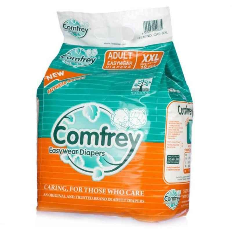 Comfrey 10 Pieces Double Extra Large Adult Diaper