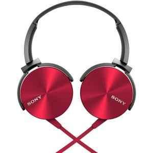 Sony On Ear Headphone Without Mic Red Mdr Xb450