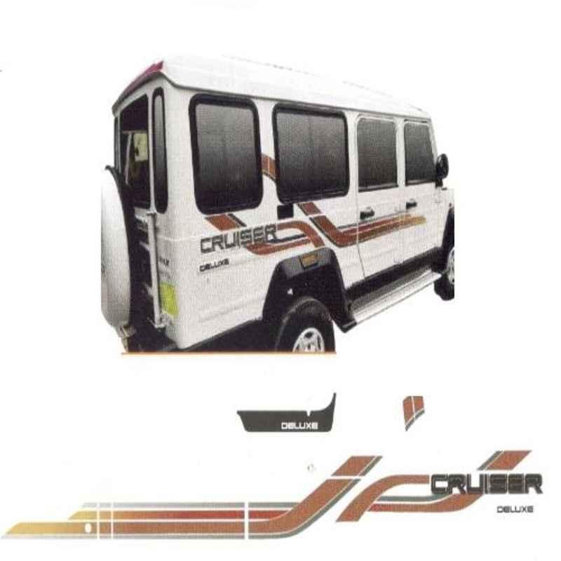 Galio Copper & Gold Graphics Car Sticker Set for Force Cruiser 2016, GL-226C