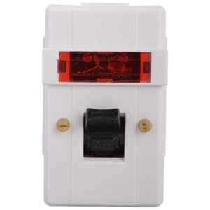 Anchor Penta 32A White Surface DP Switch With Neon, 39094