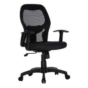 Teal Cosmos Mesh Black Mid Back Office Chair, 19001980