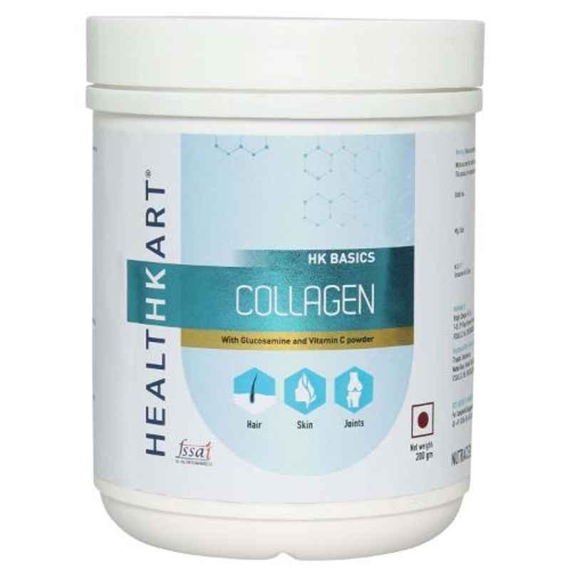 Healthkart 200g Collagen with Glucosamine & Vitamin C Powder, HNUT8183-01