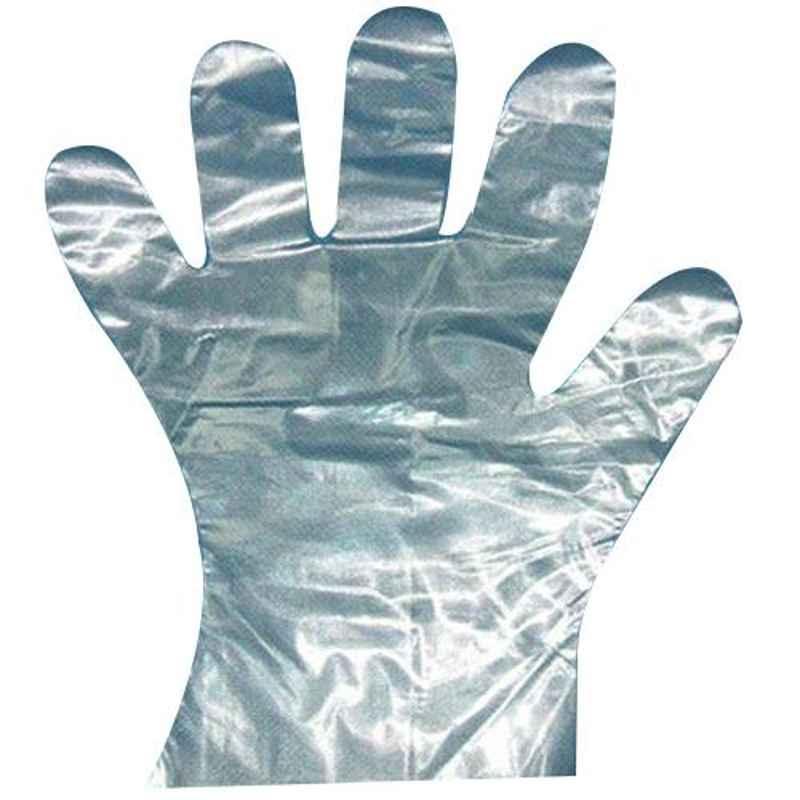 Khushi 12 inch Plastic Hand Gloves (Pack of 1000)