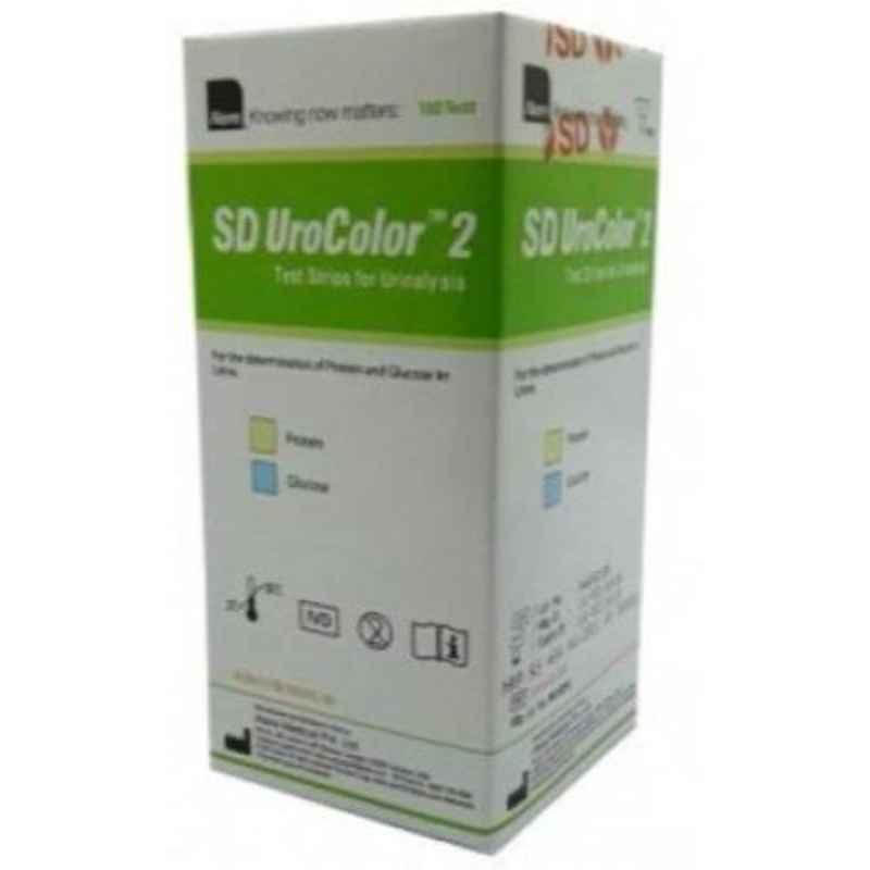 SD Urocolor 2 100 Pcs Urine Reagent Strips for Urinalysis