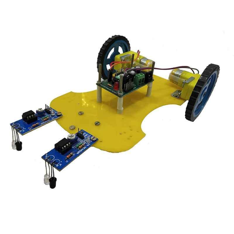Embeddinator PCB and Copper Line Follower Non-Programmable Robotic DIY Kit
