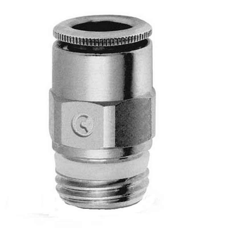 Camozzi 12mm 3/8 inch Male Straight Connector, S6510 12-3/8