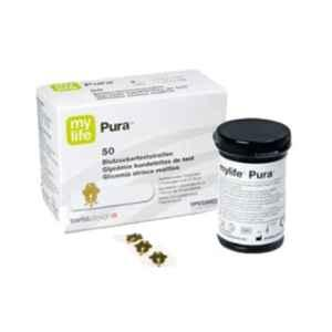 Ypsomed 50 Pcs Mylife Pura Blood Glucose Test Strips Box, MYLFSTR50
