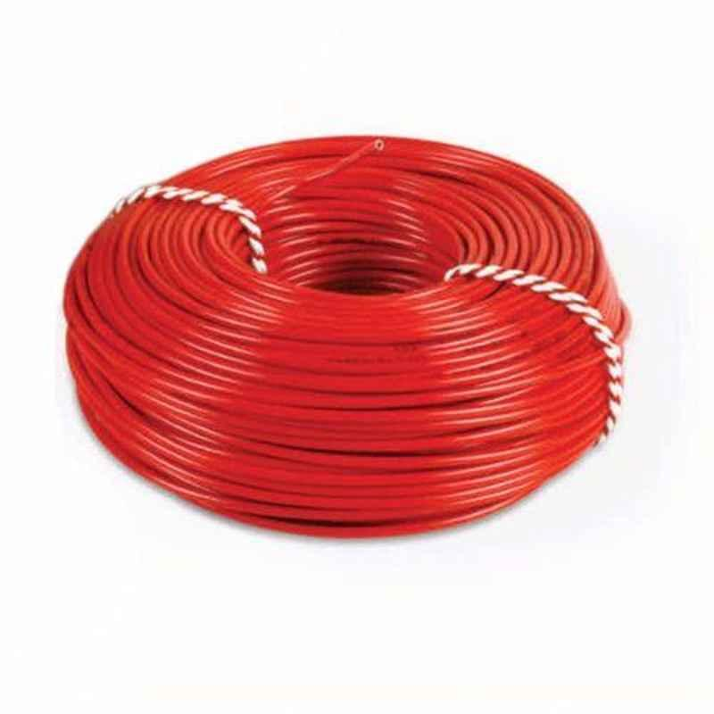 Cabsun 2.5 Sqmm Red Single Core FR PVC Insulated Copper Electrical Wire