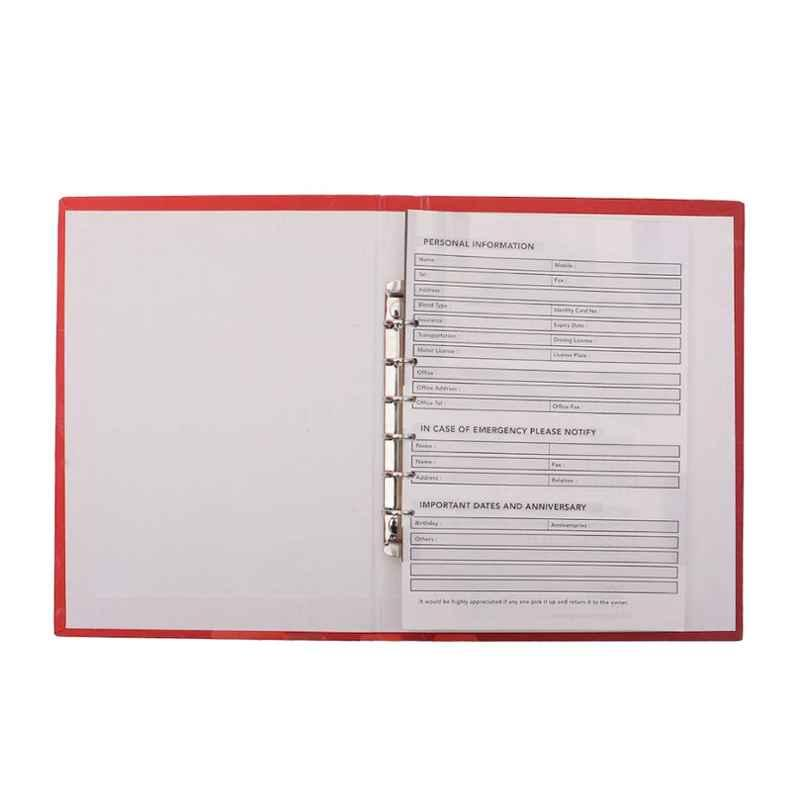 Stolt Fine Red 120 Pages Business Diary with Refillable Pages
