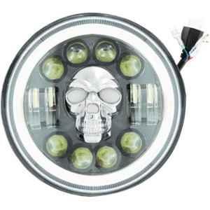 Otoroys 12V White LED Light For Royal Enfield, OTO-Skull-7-Inch
