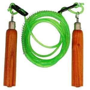 Arnav Wooden Grip Green Jumping & Skipping Rope