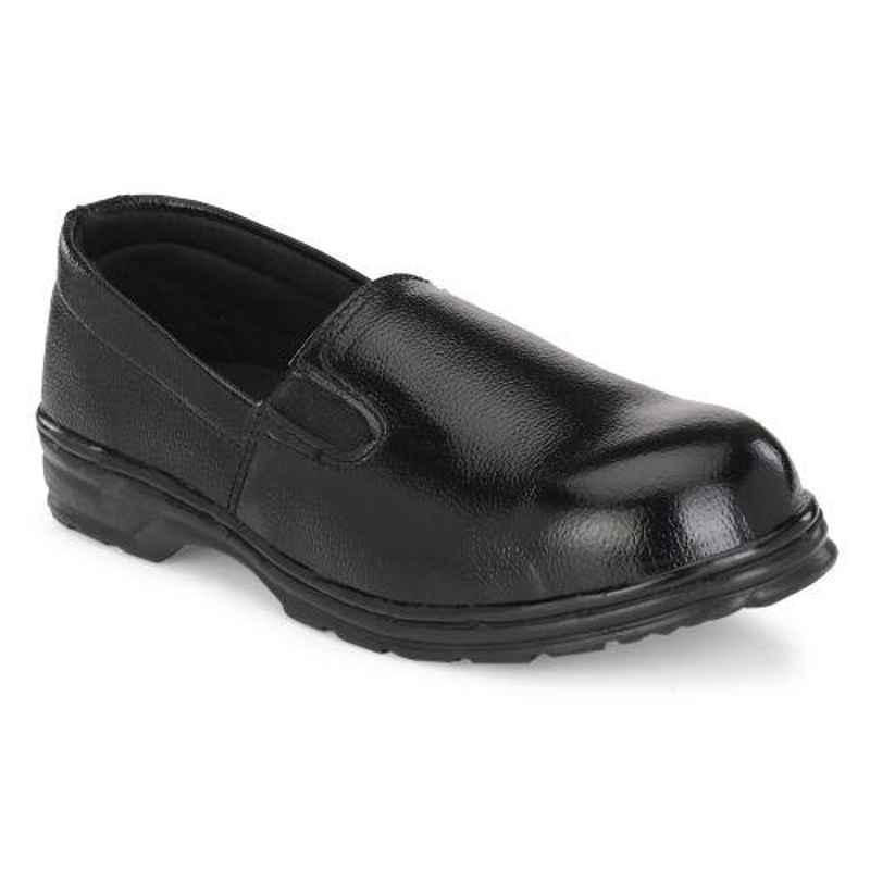 ArmaDuro AD1014 Leather Steel Toe Black Ladies Safety Shoes, Size: 5