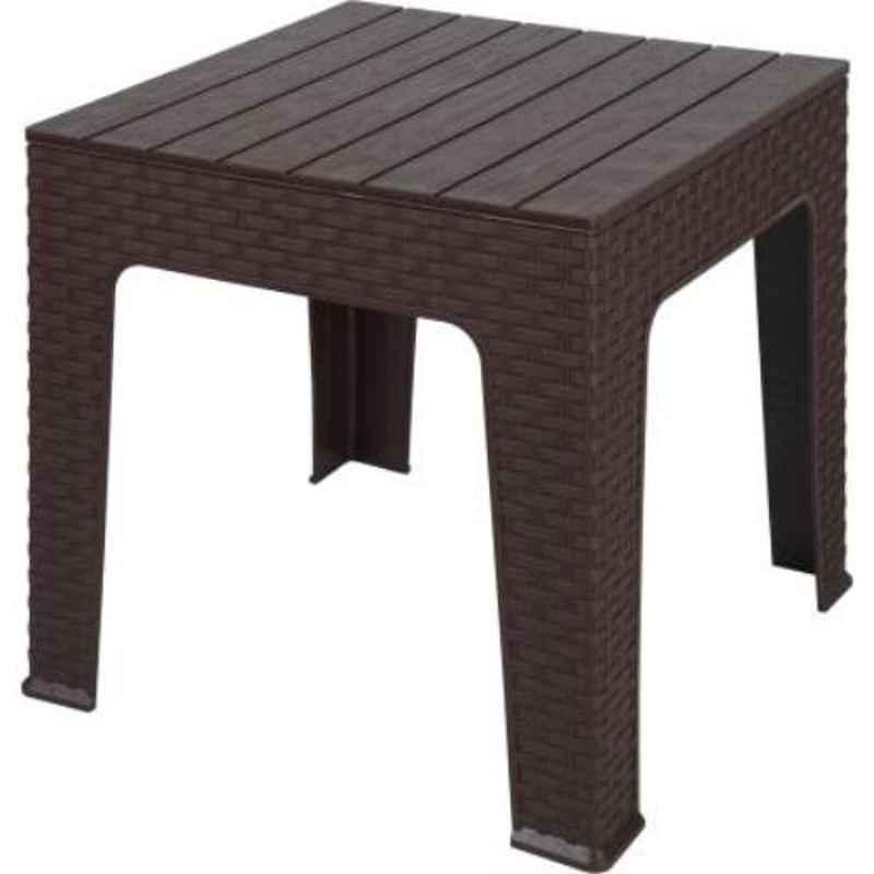 Supreme Jazz Globus Brown Plastic & Polypropylene Square Outdoor Table