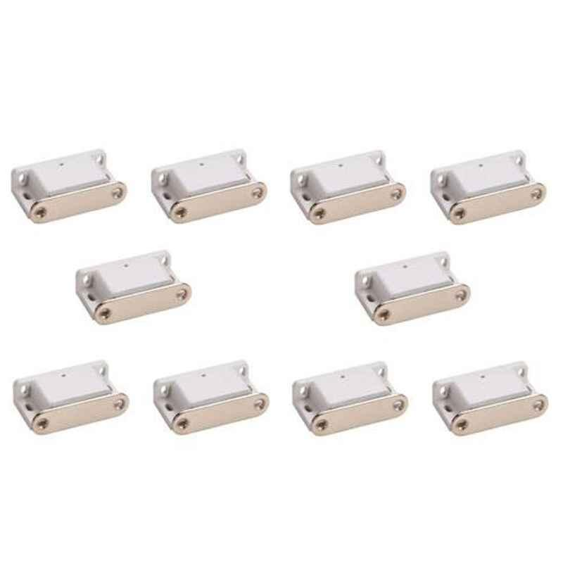 Nixnine White Magnetic Door Stopper, NO-3_WHT_10PS_A (Pack of 10)
