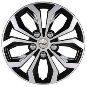Prigan 4 Pcs 14 inch Silver Universal Wheel Cover Set