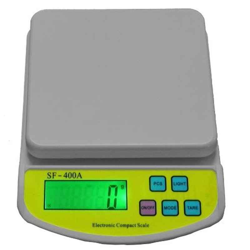 Virgo 10kg Grey Digital Kitchen Multi-Purpose Weighing Machine, SF-400A GREY