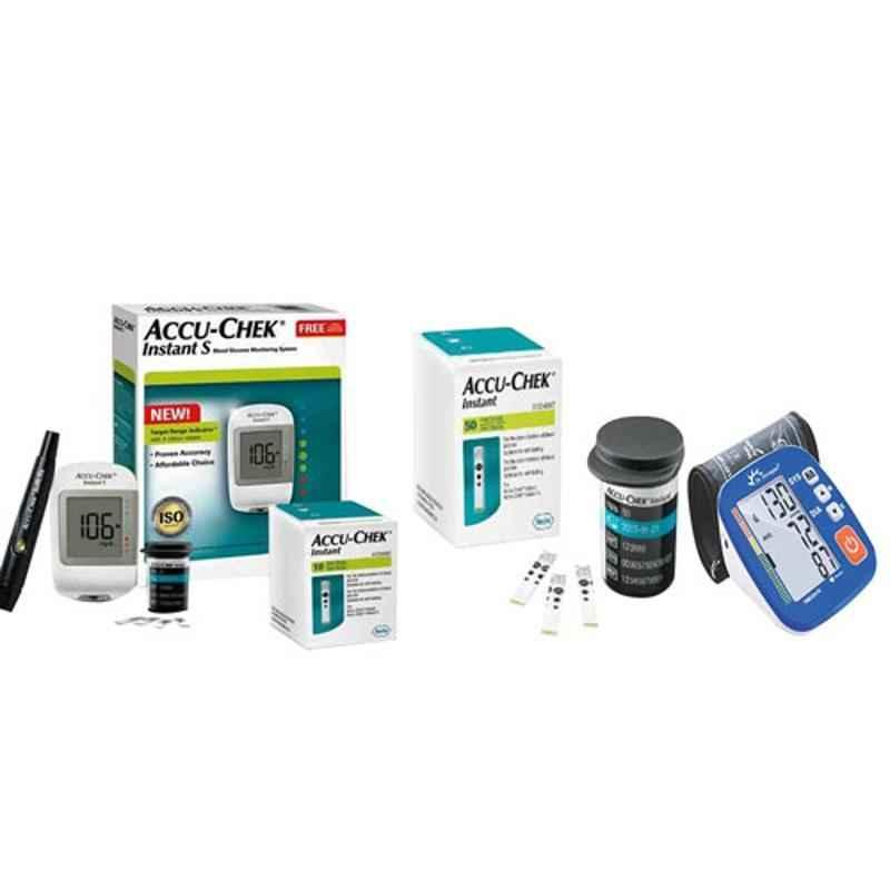 Dr. Morepen BP-02-XL Blood Pressure Monitor & Accu-Chek Instant S Meter Glucometer with 60 Test Strips