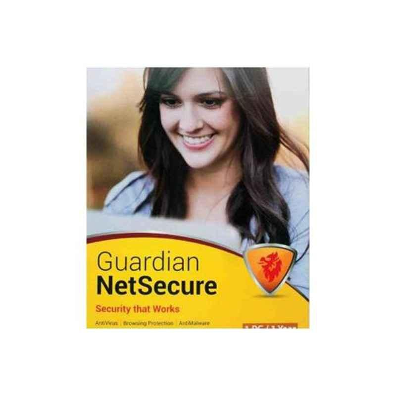 Guardian Net Secure Antivirus 1 User 1 Year with CD