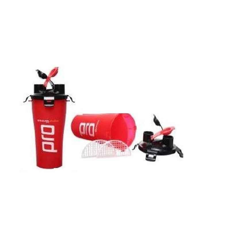 Strauss Pro 700ml Red Plastic Dual Shaker, ST-1112
