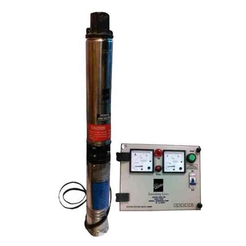 Kirloskar 1HP Oil Filled Submersible Pump with Control Panel, KP4 JALRAAJ 1008