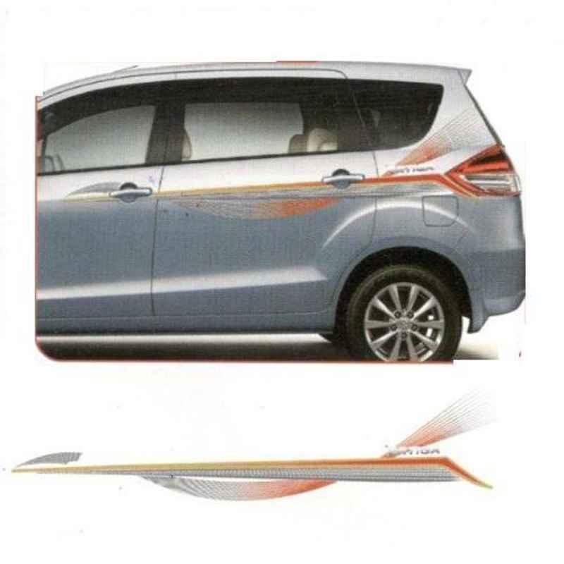 Galio Red & Grey Graphics Car Sticker Set for Maruti Suzuki Ertiga, GL-200R