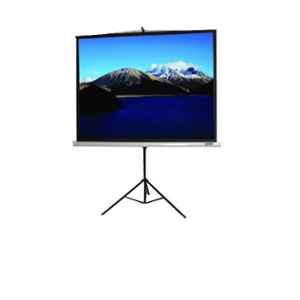 Logic Classic 84 inch White & Black Projection Screen with Tripod Stand, LG-CT84