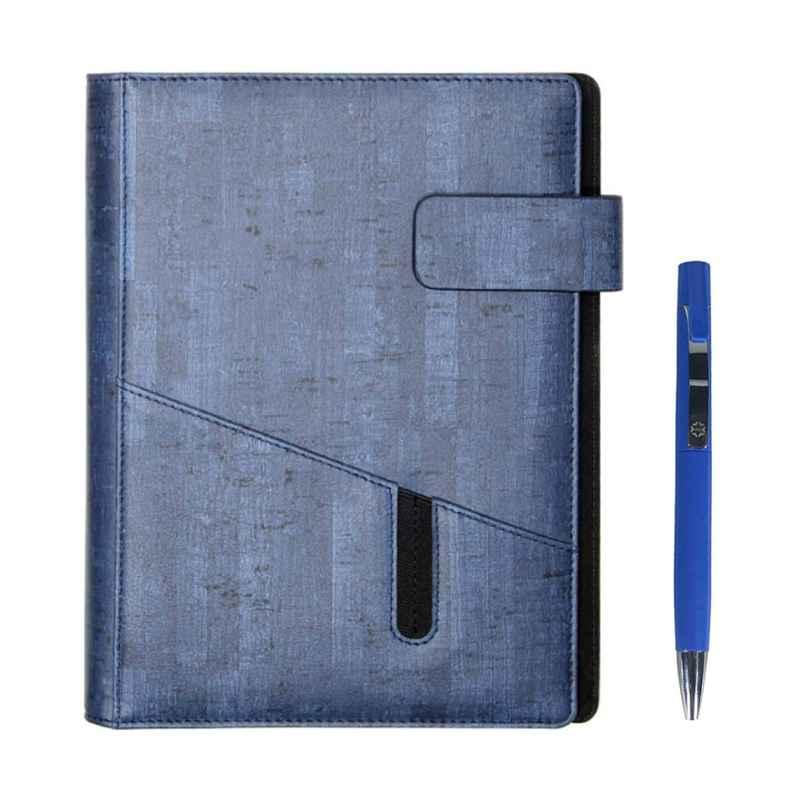 Stolt Whiz PU Leather Blue Cover Business Diary with Pen
