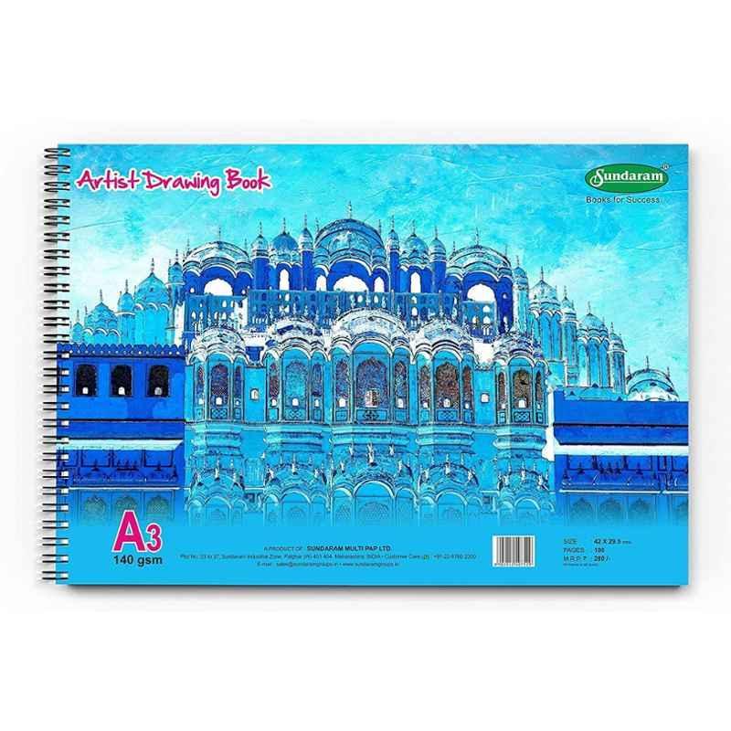 Sundaram 100 Pages A/3 Artist Drawing Book, D-12