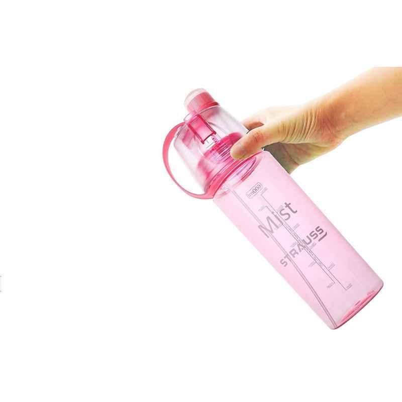 Strauss Mist 600ml Pink Plastic Spray Bottle, ST-1221