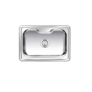 Nirali Eureka Delux Small Glossy Finish Kitchen Sink, Size: 625x445 mm