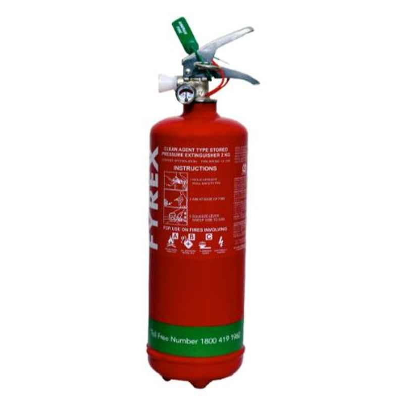 Fyrex FE36 Chemours Stored Pressure 2kg Clean Agent Fire Extinguisher, F0017