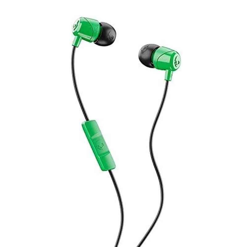 Skullcandy Jib Green & Black Wired in-Earphone with Mic, S2DUY-L102