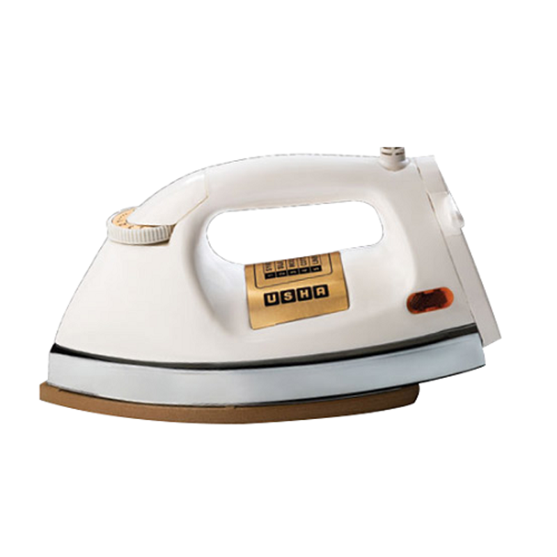 Usha El-3710 1000W White Heavy Weight Dry Iron