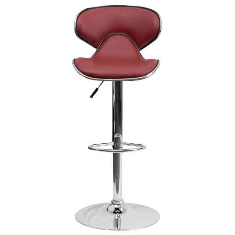 Steel Craft KBSTM06 Maroon Leatherette Upholstery Seat Bar Stool