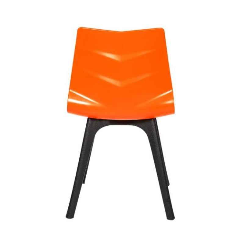 Regent Diamond Shell Plastic Orange Chair