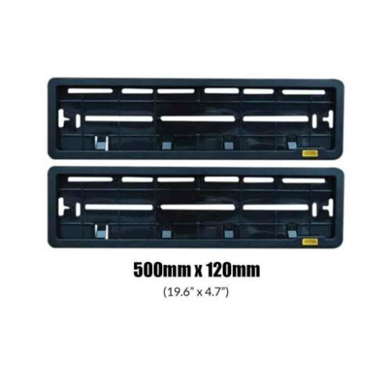 Viva City Type C10 Black Plastic Front and Rear Car Number Plates Frames