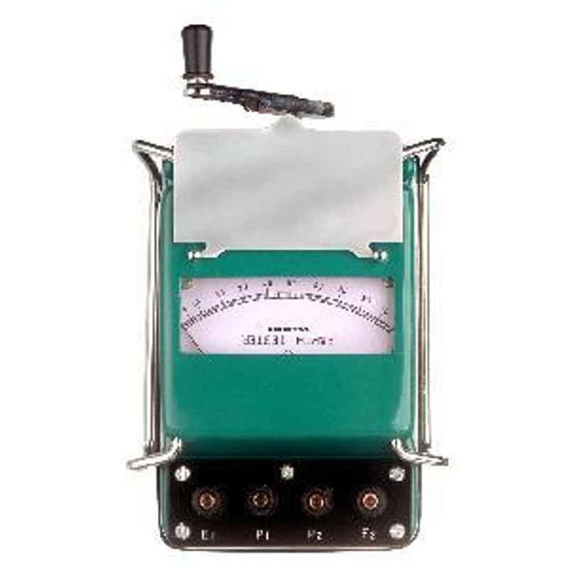 Waco 0-10-100 Ohm Dual Range Metal Body Analogue Earth Tester