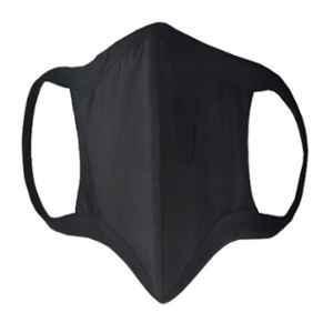 APS Cotton Reusable, Washable & Anti Pollution Black Face Mask, FM-04 (Pack of 10)
