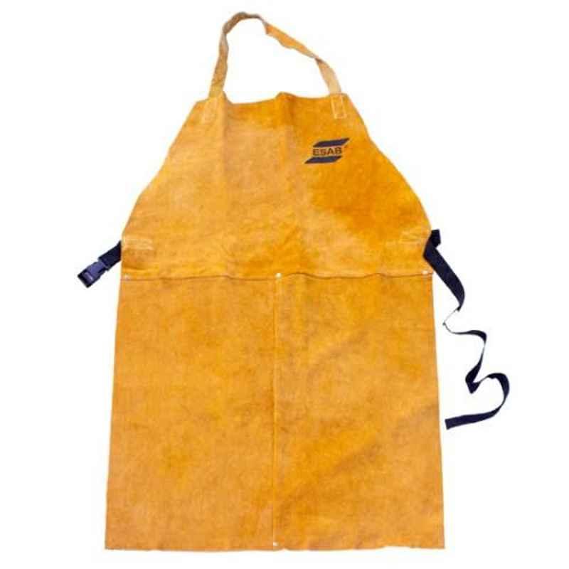 ESAB Dura Yellow Split Leather Apron, Size: M