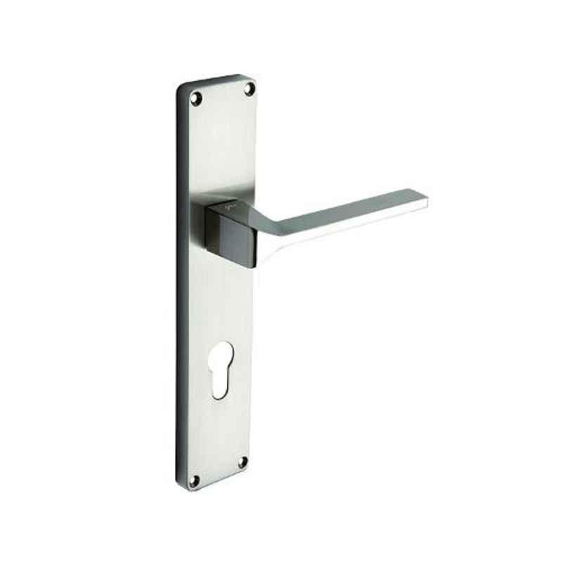 Godrej NEH 16 240mm 2C Satin Steel Door Handle with Lock Set, 5989