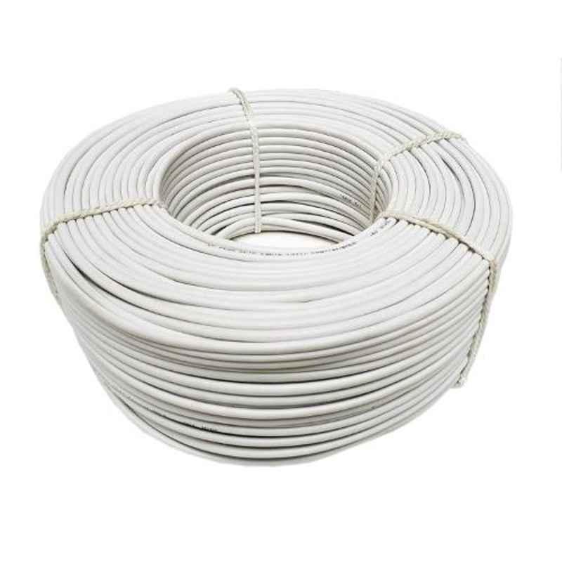 CP Plus White 90m Copper Coaxial Cable
