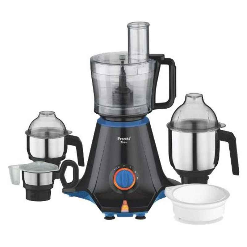 Preethi Zion 2.1L with 4 Jars 750W Mixer Grinder, MG-227