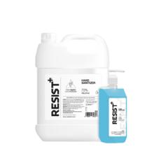 Resist Plus 5L Ethyl Alcohol Based Hand Sanitizer with 500ml Pump Dispenser