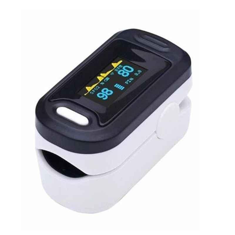 Dr. Morepen White & Black OLED Fingertip Pulse Oximeter, PO-15